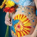 Рисунки на беременных животиках