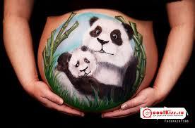 рисунки на животе беременной