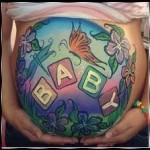 рисунки на животе у беременных