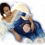 рисунки на беременном животе