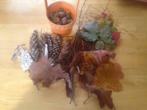 сенсорная коробка осень