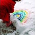 Рисовать по снегу